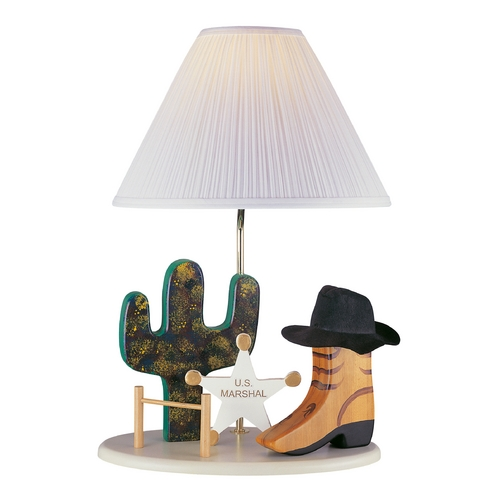 Lite Source Lighting Lite Source Lighting Cowboy Lamp Beige Table Lamp with Empire Shade 3CB20106