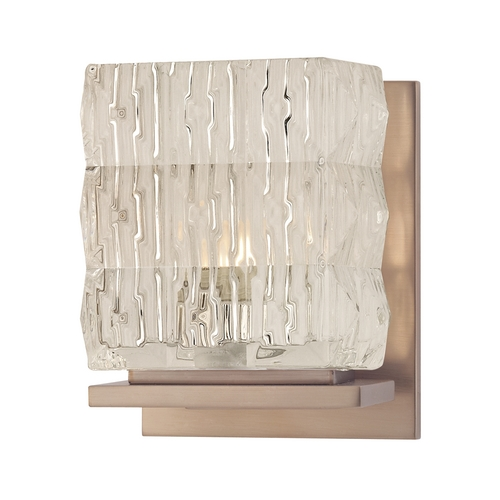 Hudson Valley Lighting Modern Sconce with Clear Glass in Brushed Bronze Finish 6241-BB