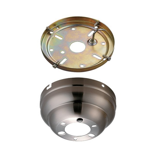 Monte Carlo Fans Ceiling Adaptor in Brushed Steel Finish MC90BS