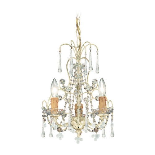 Crystorama Lighting Crystal Mini-Chandelier in Champagne Finish 4523-CM