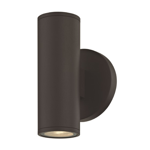 Design Classics Lighting LED Cylinder Outdoor Wall Light Up / Down Bronze 2700K 1770-BZ S9382 LED 2700K