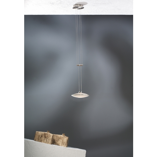 Holtkoetter Lighting Holtkoetter Modern Low Voltage Mini-Pendant Light with White Glass 5701 SN GB20