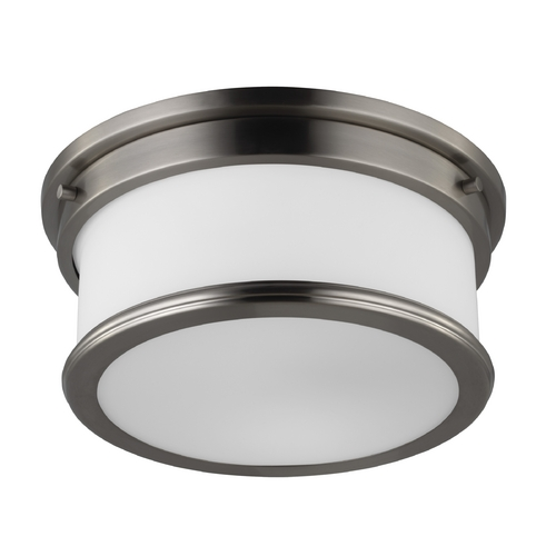 Feiss Lighting Feiss Lighting Payne Brushed Steel Flushmount Light FM399BS
