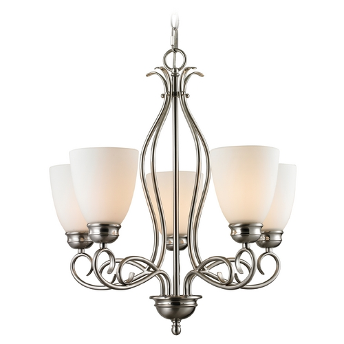Cornerstone Lighting Cornerstone Lighting Chatham Brushed Nickel Chandelier 1105CH/20