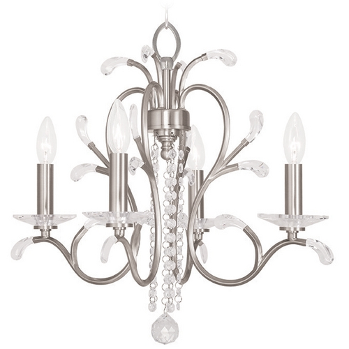Livex Lighting Livex Lighting Serafina Brushed Nickel Mini-Chandelier 51004-91