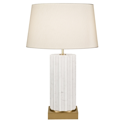 Fine Art Lamps Fine Art Lamps White Marble Table Lamps White Marble Table Lamp with Drum Shade 826210-2ST