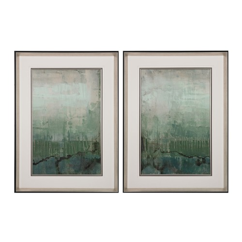 Sterling Lighting Emerald Sky I, II - Limited Edition Print On Fine Art Paper Under Glass 151-016/S2