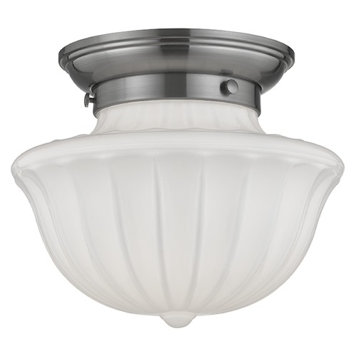 Hudson Valley Lighting Dutchess 1 Light Semi-Flushmount Light - Satin Nickel 5009F-SN