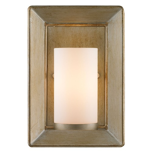 Golden Lighting Golden Lighting Smyth White Gold Sconce 2073-1W WG
