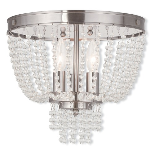 Livex Lighting Livex Lighting Valentina Brushed Nickel Semi-Flushmount Light 51864-91