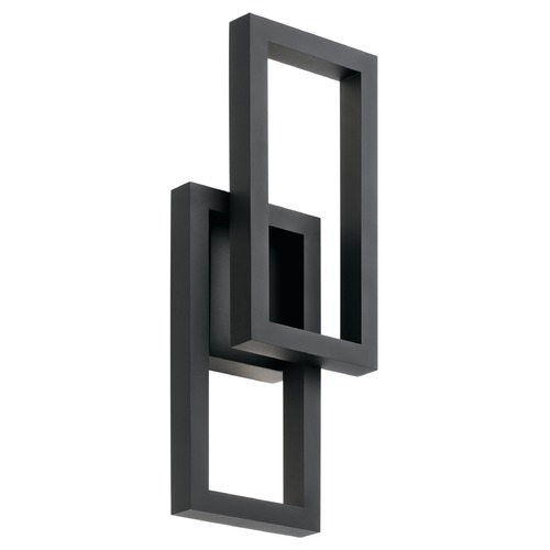 Kichler Lighting Kichler Lighting Rettangolo Textured Black LED Outdoor Wall Light 49802BKTLED