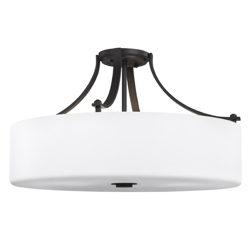 Sea Gull Lighting Sea Gull Lighting Sunset Drive Oil Rubbed Bronze Semi-Flushmount Light SF254ORB