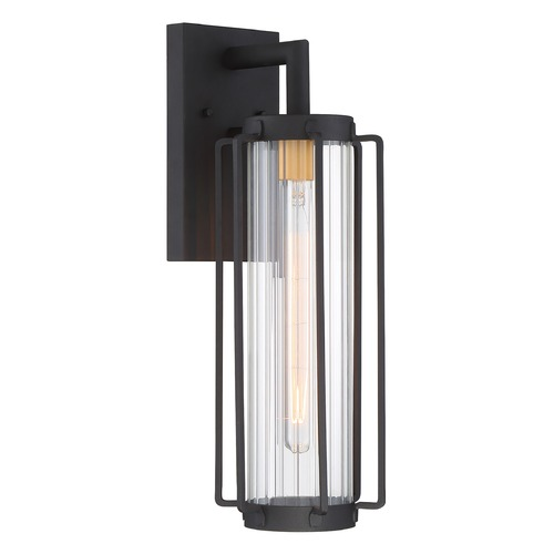 Minka Lavery Minka Lavery Avonlea Sand Black with Gold Socket Outdoor Wall Light 72733-66G