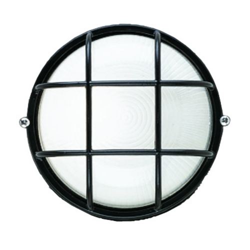 Philips Lighting Outdoor Wall Light with White Glass in Black Finish F9039619NV