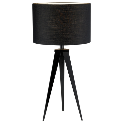 Adesso Home Lighting Modern Table Lamp with Black Shade in Black Finish 6423-01
