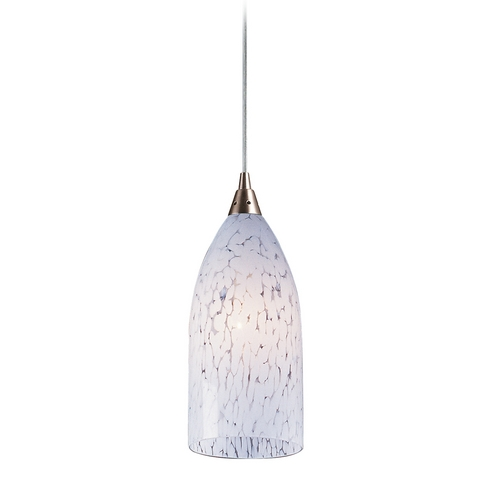 Elk Lighting Modern Mini-Pendant Light with Art Glass 502-1SW