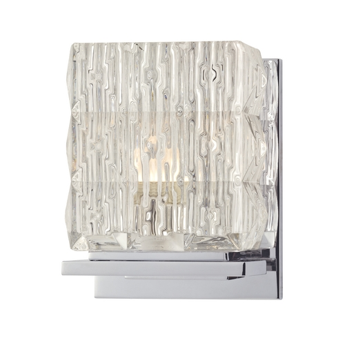 Hudson Valley Lighting Modern Sconce with Clear Glass in Polished Chrome Finish 6241-PC