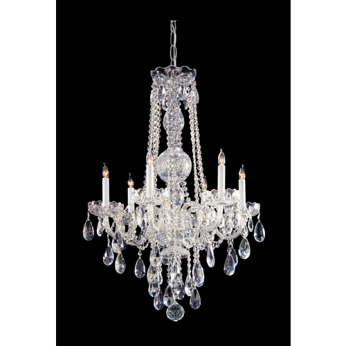 Crystorama Lighting Crystal Chandelier in Polished Chrome Finish 1106-CH-CL-MWP