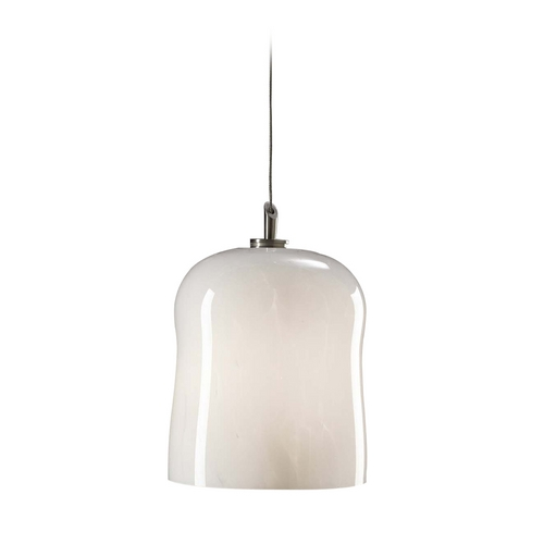 PLC Lighting Modern Mini-Pendant Light with White Glass 365 WHITE