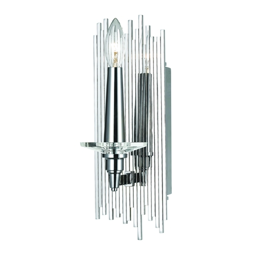 AF Lighting Modern Sconce Wall Light in Chrome Finish 8410-1W