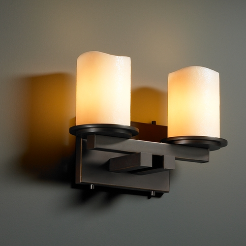 Justice Design Group Justice Design Group Candlearia Collection Bathroom Light CNDL-8772-14-CREM-DBRZ