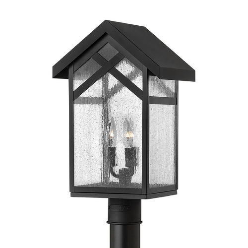 Hinkley Lighting Post Light with Clear Glass in Black Finish 1791BK-GU24