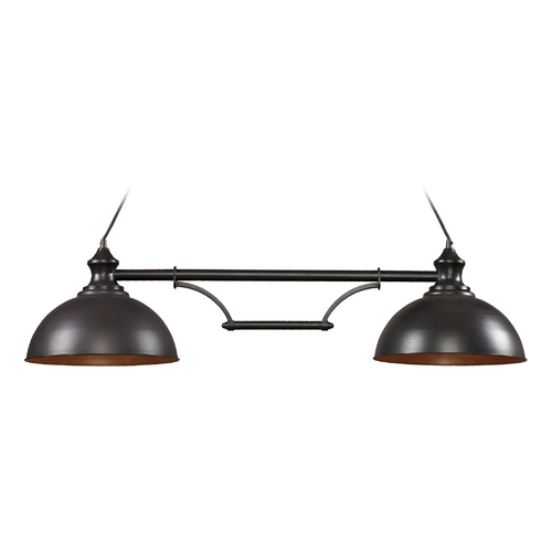 Elk Lighting LED Island Light in Oiled Bronze Finish - 2 Lights 65150-2-LED