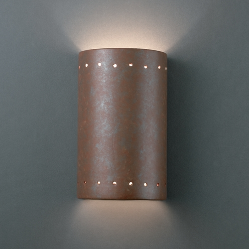 Justice Design Group Outdoor Wall Light in Rust Patina Finish CER-0995W-PATR