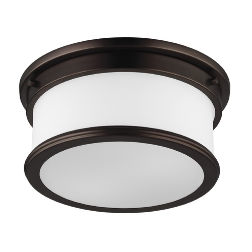 Feiss Lighting Feiss Lighting Payne Dark Plated Bronze Flushmount Light FM399DPZ