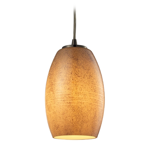 Elk Lighting Modern Mini-Pendant Light with Beige / Cream Glass 10330/1TB