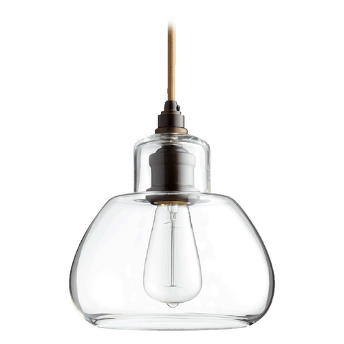 Quorum Lighting Quorum Lighting Oiled Bronze W/ Clear Mini-Pendant Light 8000-86
