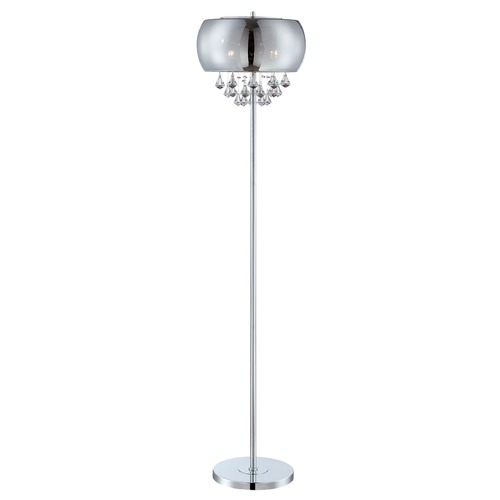 Lite Source Lighting Lite Source Othello Chrome Floor Lamp with Oblong Shade EL-90064