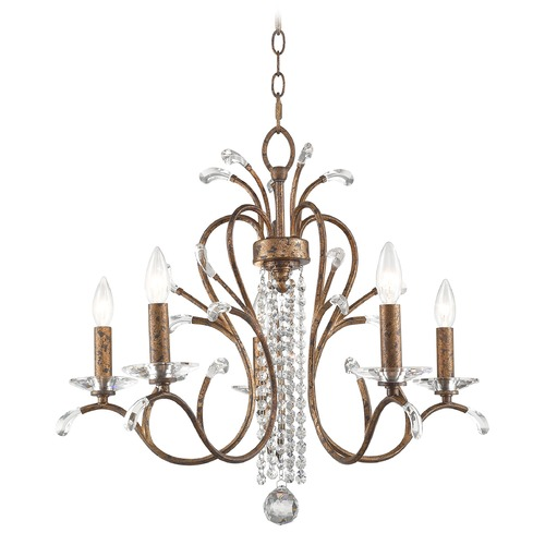 Livex Lighting Livex Lighting Serafina Hand Applied Venetian Golden Bronze Crystal Chandelier 51005-71
