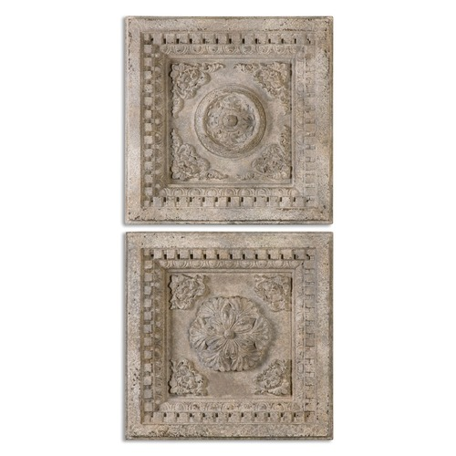Uttermost Lighting Uttermost Auronzo Aged Ivory Squares, Set of 2 13910