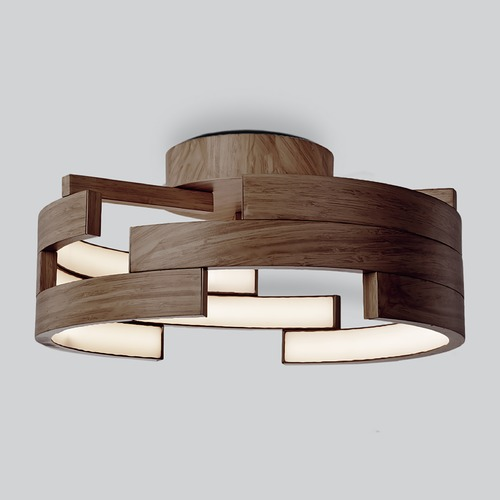 Kuzco Lighting Kuzco Lighting Modern Walnut LED Flushmount Light 3000K 1015LM FM12716-WT