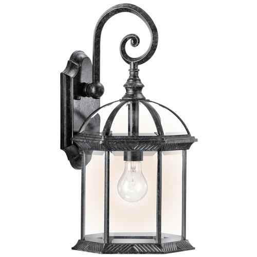 Kichler Lighting Kichler Outdoor Wall Light with Clear Glass in Black Finish 49186BK