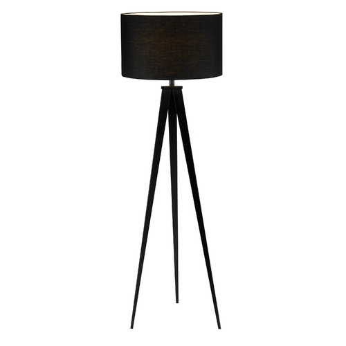Adesso Home Lighting Modern Floor Lamp with Black Shade in Black Finish 6424-01