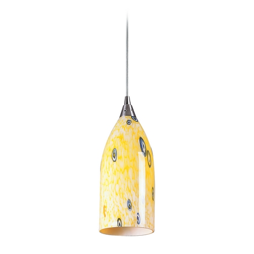 Elk Lighting Modern Mini-Pendant Light with Art Glass 502-1YW
