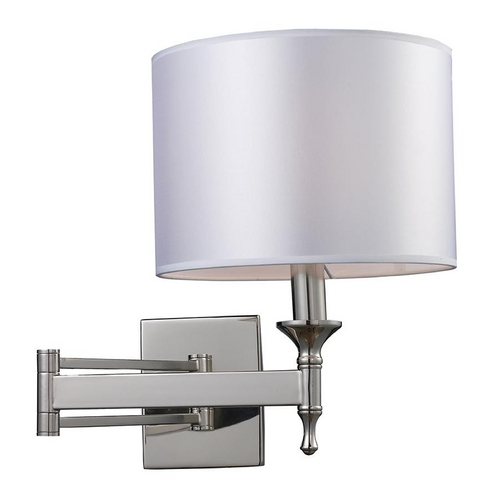 Elk Lighting Modern Wall Light with Grey Shade in Polished Nickel Finish 10160/1