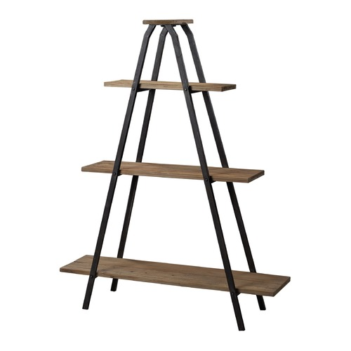 Sterling Lighting Sterling Lighting Restoration Black / Natural Wood Shelving 51-10003