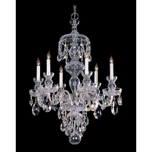 Crystorama Lighting Crystal Chandelier in Polished Chrome Finish 1146-CH-CL-MWP