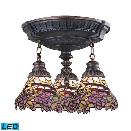 Elk Lighting Elk Lighting Mix-N-Match Aged Walnut LED Semi-Flushmount Light 997-AW-28-LED