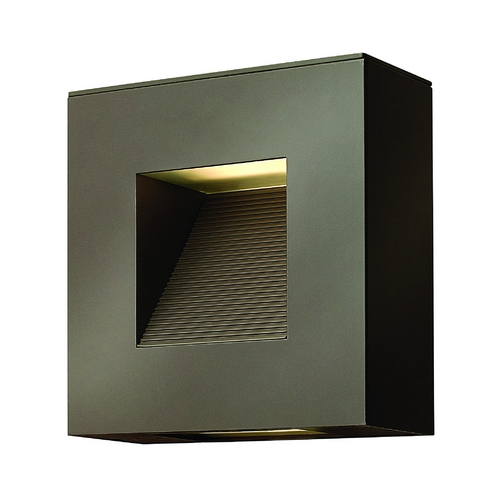Hinkley Lighting Modern Outdoor Wall Light with Etched in Bronze Finish 1647BZ