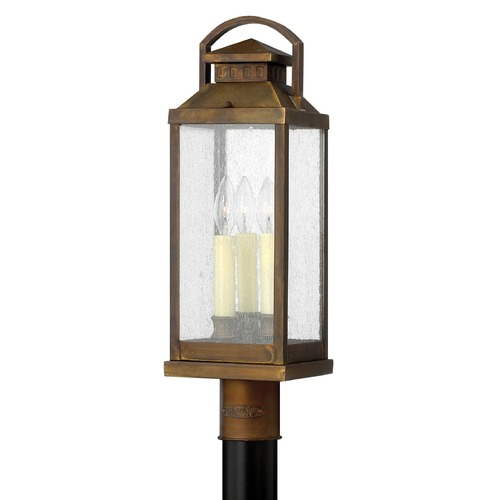 Hinkley Lighting Post Light with Clear Glass in Sienna Finish 1181SN