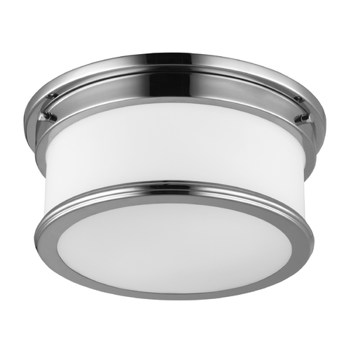 Feiss Lighting Feiss Lighting Payne Polished Nickel Flushmount Light FM399PN