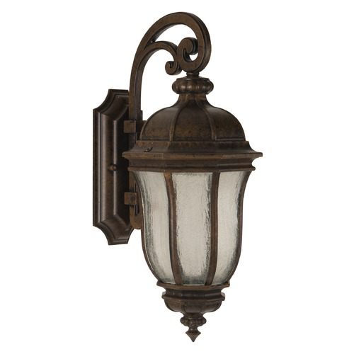 Craftmade Lighting Seeded Glass Outdoor Wall Light Bronze Craftmade Lighting Z3314-112