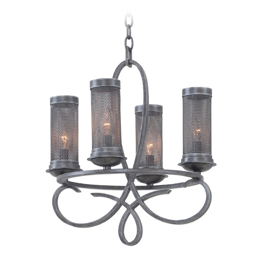 Kalco Lighting Kalco Lighting Delancy Vintage Iron Mini-Chandelier 7531VI