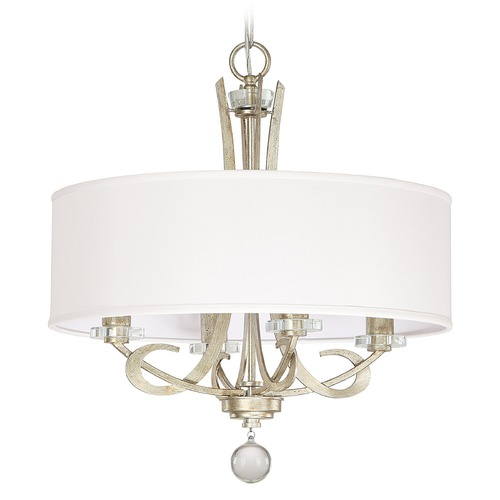 Capital Lighting Capital Lighting Hutton Winter Gold Pendant Light with Drum Shade 4264WG-568