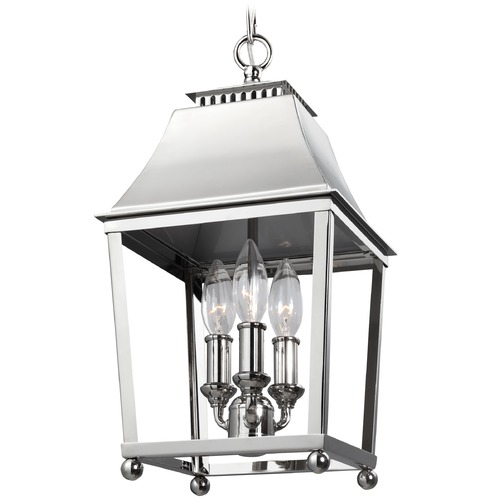 Feiss Lighting Feiss Lighting Galloway Polished Nickel Mini-Pendant Light F3088/3PN