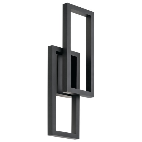 Kichler Lighting Kichler Lighting Rettangolo Textured Black LED Outdoor Wall Light 49803BKTLED